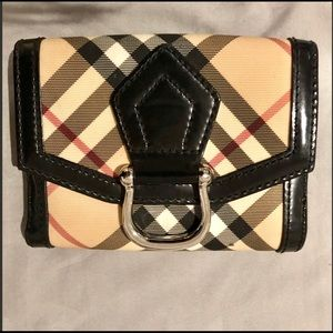 Authentic Burberry Nova Check Buckle Wallet